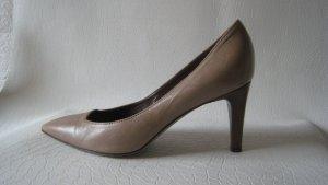 Rene Lezard Luxus Leder Spitze Pumps Nude Anlass Big Business Elegant & Edel  NP 283 € Top