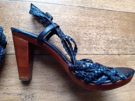 René Lezard Roman Sandals brown-bronze-colored leather