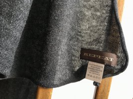 Repeat Knitted Scarf anthracite cotton