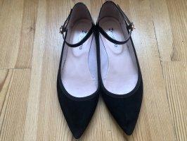 Repetto Ballerina's met kant zwart