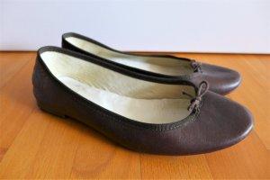 Repetto Schuhe flach Ballerinas Leder braun Gr. 39