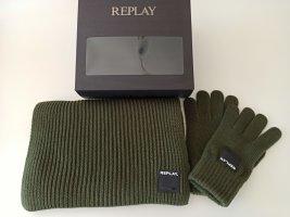 REPLAY Geschenkset ❤ Schal + Handschuhe