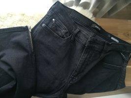 Replay Joi Ankle Zip Skinny Jeans, black denim