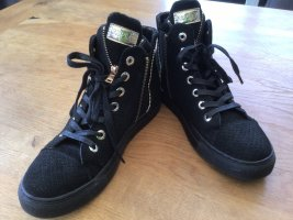 Replay Lace-Up Sneaker black-gold-colored