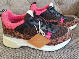 Replay Sneaker neu gr. 38 leo schwarz braun pink weiß Turnschuhe