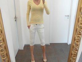 Replay Spodnie Capri biały