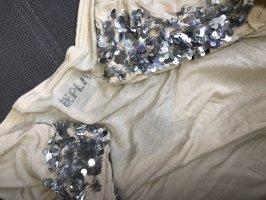 Replay t- shirt Top loose Bluse Tunika mit Pailletten S-M 36
