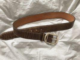 Reptile's House Cintura di pelle marrone chiaro
