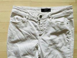 Reserved Jeansy typu boyfriend biały