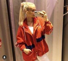 Reserved Leichte Sommer Jacke rot weiß Oversize