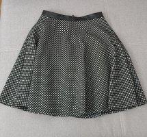 Reserved Spódnica midi biały-czarny