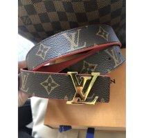 Reserviert bis 10.6.20 *Louis Vuitton initials wendegürtel Monogram canvas rot