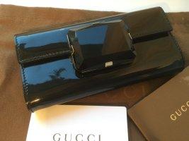 Neue Gucci Clutch Lackleder mit Schmuckstein