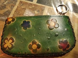 Vintage Etui na klucze leśna zieleń