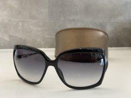Retro Gucci Sonnenbrille oversized, schwarz