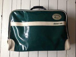 Diesel Valigia verde bosco-beige chiaro Materiale sintetico