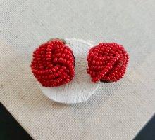 Oorclips neonrood-rood