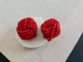 Retro Ohrclips Earclip red-gold-colored