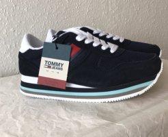 Tommy Hilfiger Basket à lacet bleu foncé-blanc