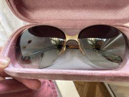 Miu Miu Okrągłe okulary przeciwsłoneczne złoto