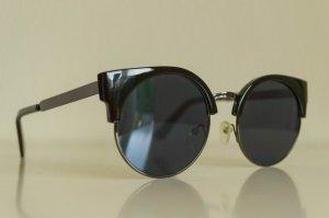 Retro Sonnenbrille in Schwarz
