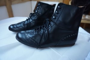 Aigner Lace-up Booties black leather