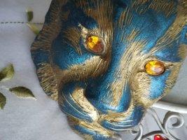 #Retro Teil# Hingucker #Tiger Kopf mit Funkel - Augen # Gürtel Schnalle#