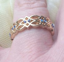 Gold Ring rose-gold-coloured-gold-colored
