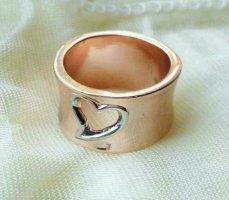 Anello d'argento color oro rosa