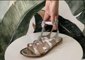 Riani extravagante Sandalen  Silber neu Größe 39