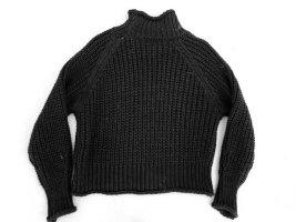 Pullover a maglia grossa nero Poliestere