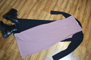 Nakd T-shirt jurk grijs-lila