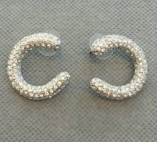Ricarda M Ear Hoops silver-colored metal