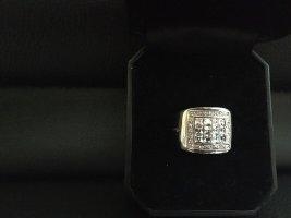 Ricarda M Ring 925 er Sterling Silber/Rhodiniert weiße Swarovski Steine