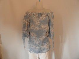 Rich & Royal Bluse Gr. 40/ 42 weiß / blau ,Blumen Print