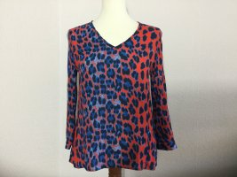 Rich & Royal Blusenshirt Shirt ¾ Arm rot blau Gr. 36 neuwertig