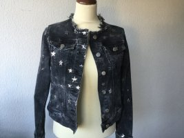 Rich & Royal Jeansjacke grau mit Sternen Gr. S neuwertig Damen