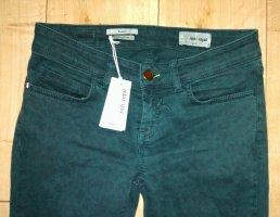Rich & Royal Jeans skinny vert forêt coton
