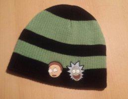 Rick and Morty Original Sombrero de tela negro-verde claro