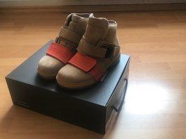Birkenstock Krótkie buty piaskowy brąz-pomarańczowy Skóra