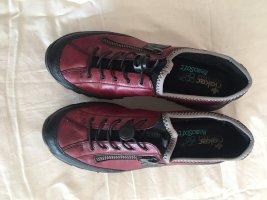 Rieker Sneaker slip-on nero-rosso scuro
