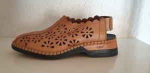 Rieker Sandales confort chameau-brun cuir