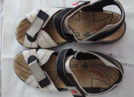 Rieker Outdoor sandalen goud Leer