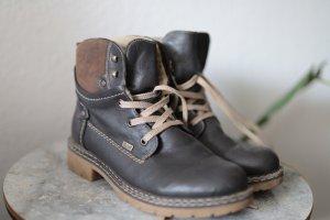 Rieker Aanrijg laarzen bruin Leer