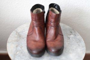 Rieker Heel Boots cognac-coloured leather