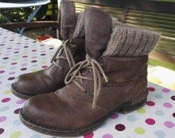 Rieker Bottines à lacets bronze-chameau cuir