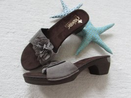 Rieker Heel Pantolettes dark brown-grey brown leather