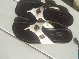 Rieker Sandalo toe-post bianco-bronzo Pelle