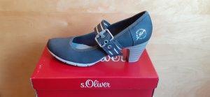 s.Oliver Strapped pumps dark grey