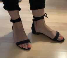 Strapped Sandals dark blue leather